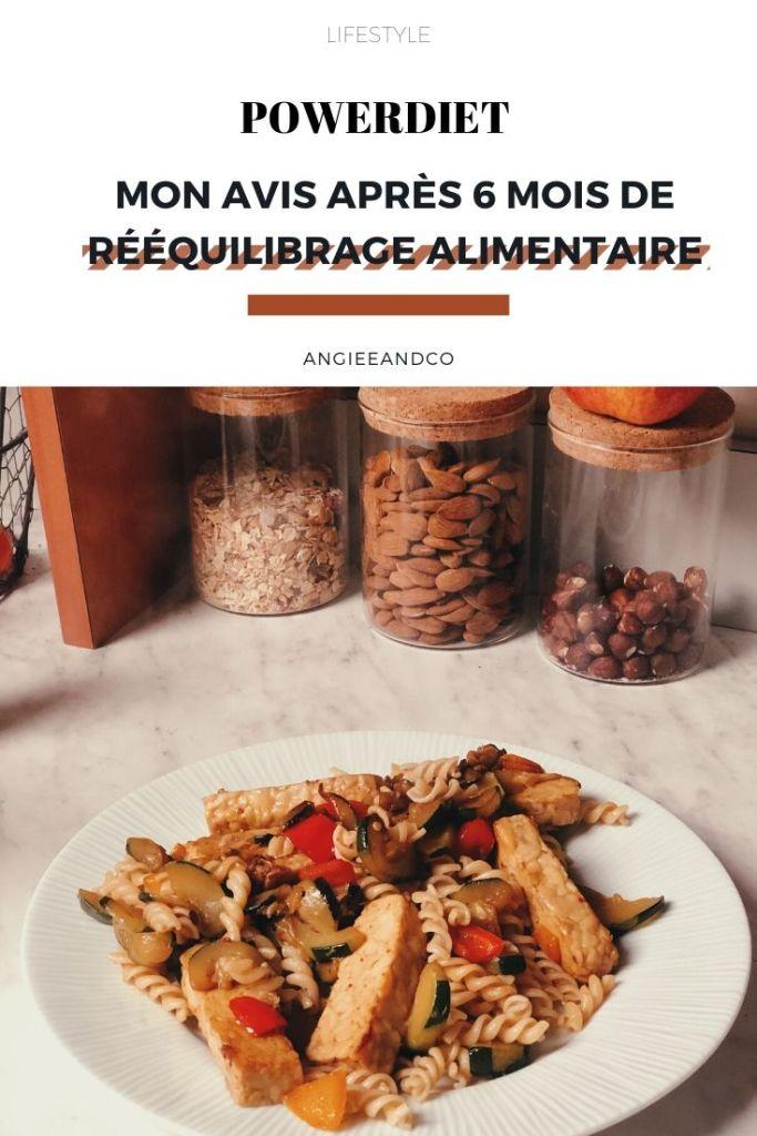 Epingle Pinterest pour mon article sur mon rééquilibrage alimentaire avec Powerdiet