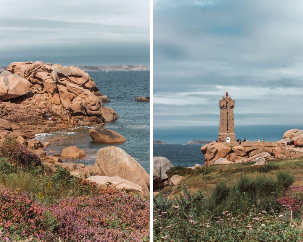 Les paysages autour des Côtes de Granit Rose en Bretagne