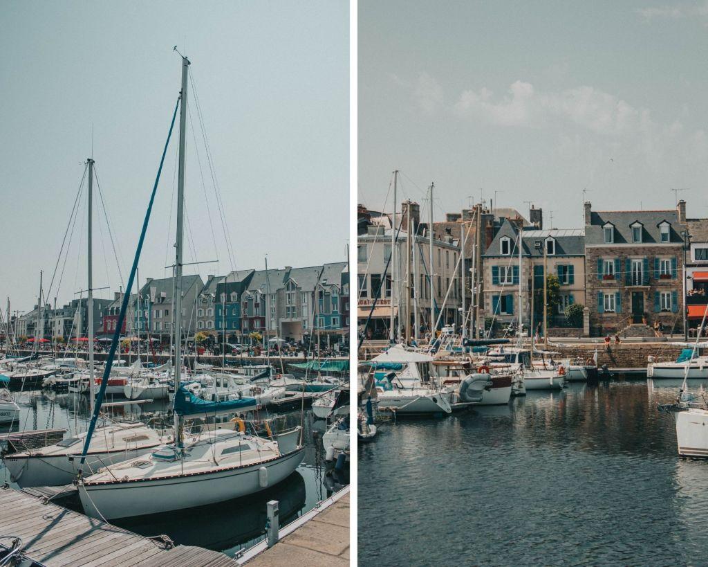 Le port de Paimpol dans les Côtes d'Armor