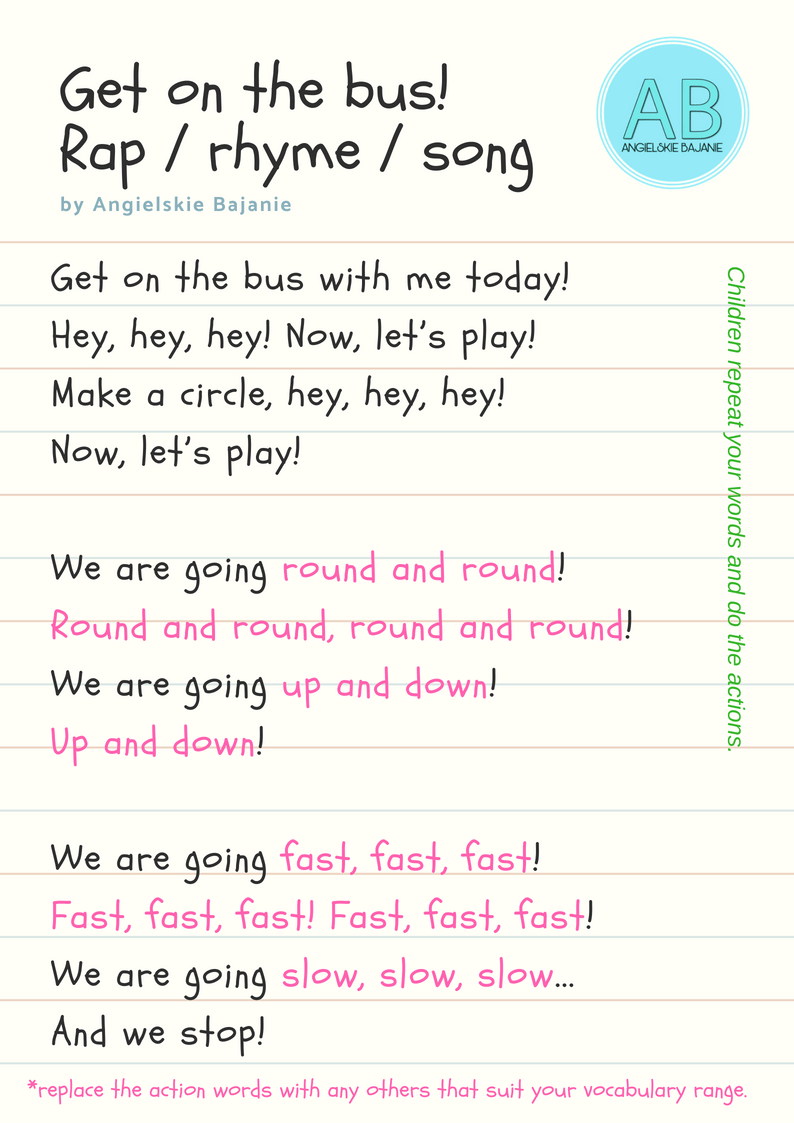 Make a circle - wierszyk po angielsku