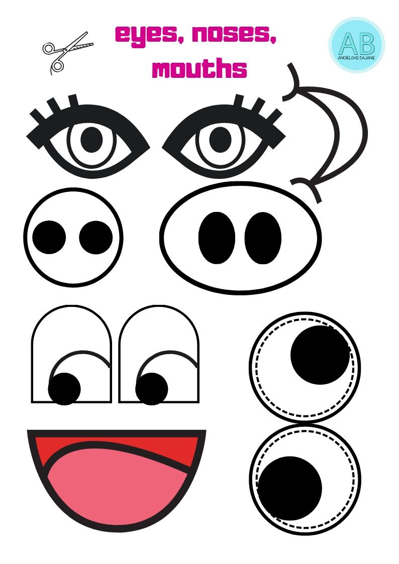 Face parts cutout
