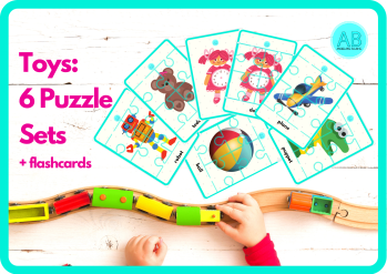 Toy puzzle - English for kids