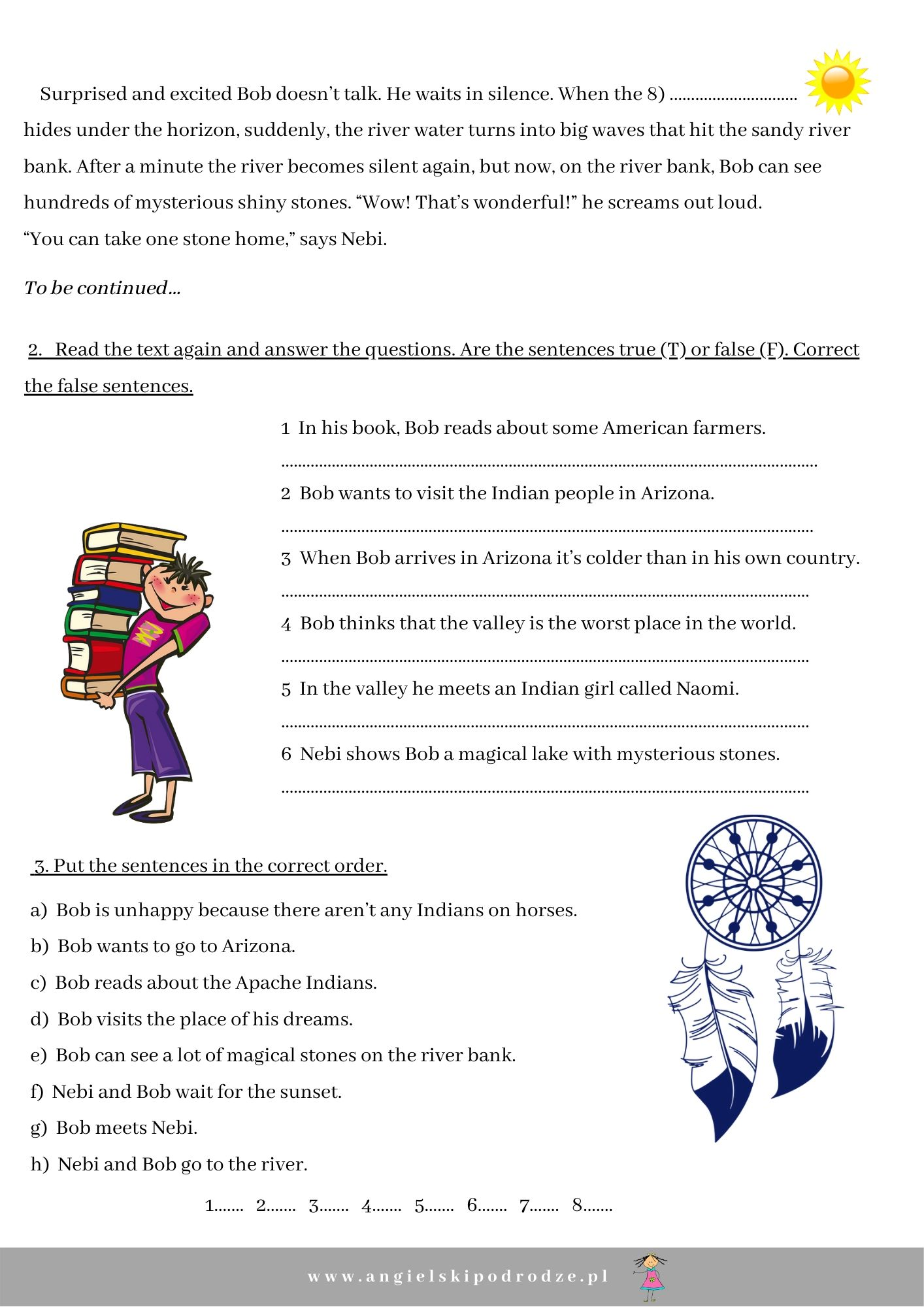 Comprehension Worksheet Native American