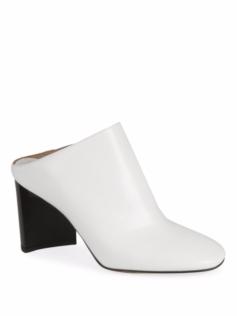 maison margiela white leather mules