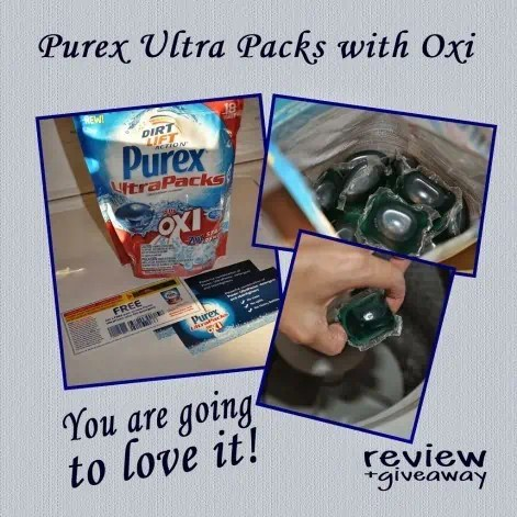 Purex Ultra Packs plus Oxi – Review & Giveaway – Giveaway ends 10/3