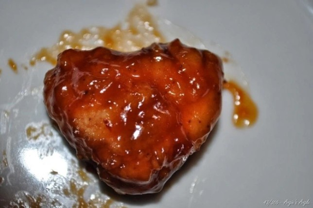 Day 43 - Heart Shaped Boneless Wing at Applebees - Angie's Angle
