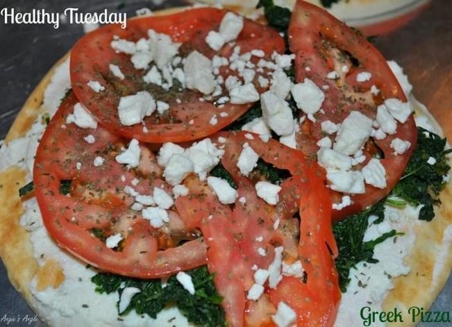 Healthy Tuesday–Greek Pizzas