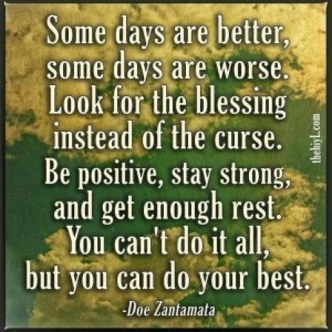 look for the positive
