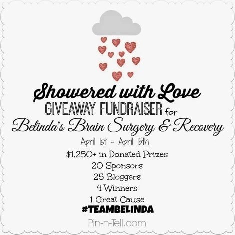 Showered with Love Fundraiser Giveaway ends 4/15/14