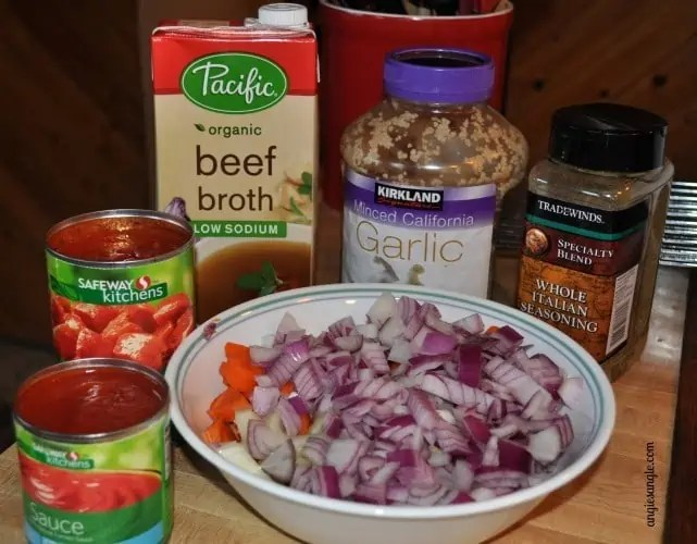 Hearty Vegetable Beef Soup - ingredients