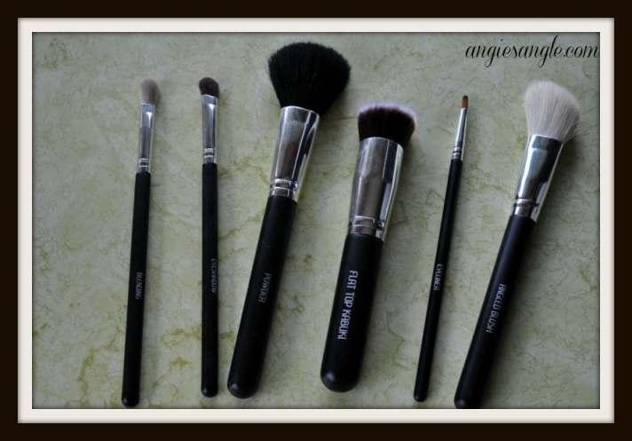 makeup brushes - laying flat
