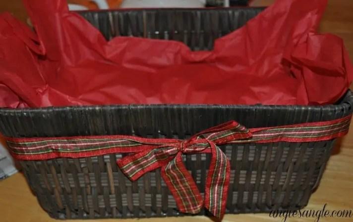How To Make A Tea Lovers Basket - Step One Basket