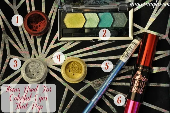 Colorful Eyes That Pop - Makeup Items Used