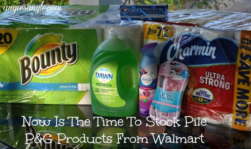 P&G Products From Walmart - Header