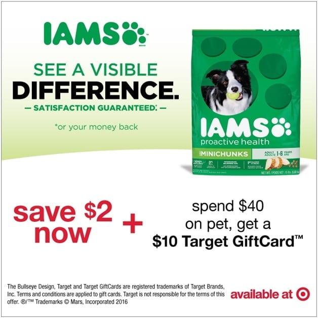 Iams Savings At Target #IamsDogGiftCardOffer #ad