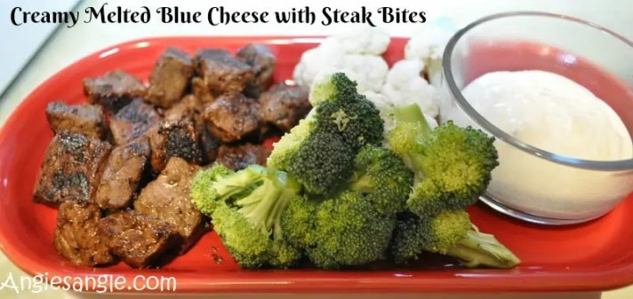 Creamy Melted Blue Cheese with Steak Bites #ad #StellaCheeses
