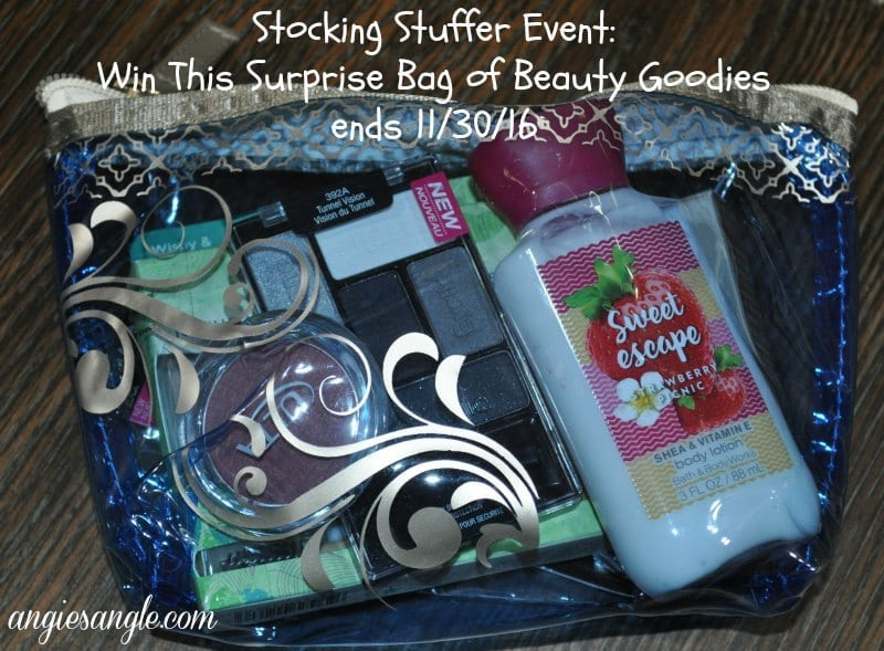 Stocking Stuffer Event – Win Beauty Goodies ends 11/30/16