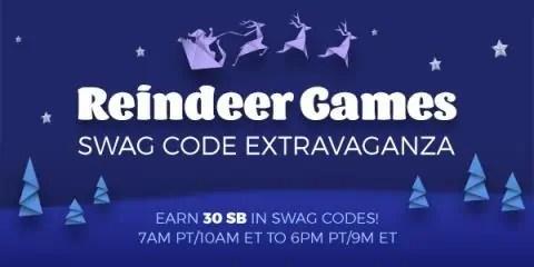 Reindeer Games Swag Codes