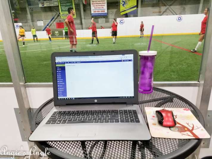 2017 Catch the Moment 365 Week 12 - Day 80 - Working at Indoor Soccer