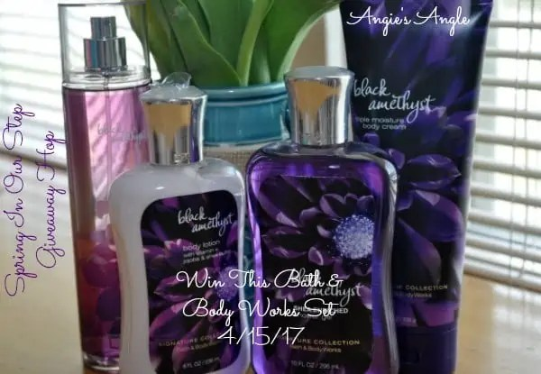 Spring in our Step Giveaway Hop - Bath and Body Works Set
