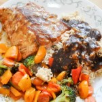 2017 Catch the Moment 365 Week 14 - Day 95 - Salmon Dinner