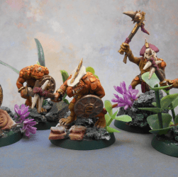 Rebasing Lizardmen - Saurus Warriors