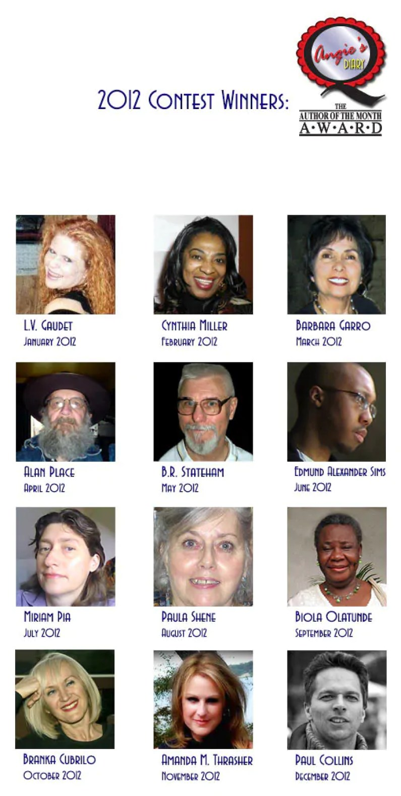 Author of the Month 201221 Author of the Month Award