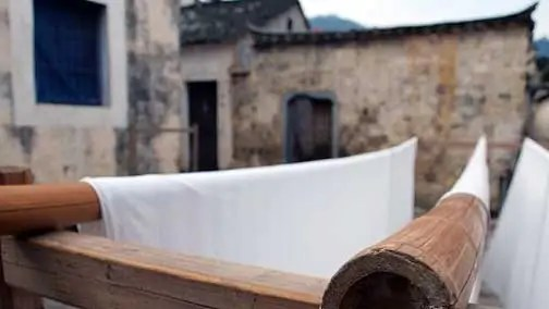 white sheets Painted Fences