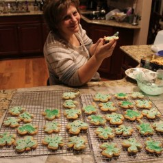 St. Patrick's Day Cookies, 2014