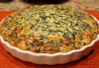 3-Cheese Crustless Spinach Quiche