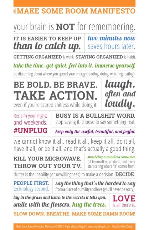 Make Some Room Manifesto
