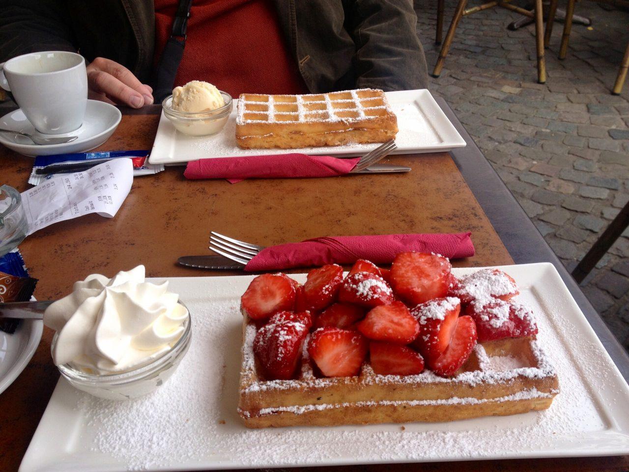 Belgium Waffles in Brugge