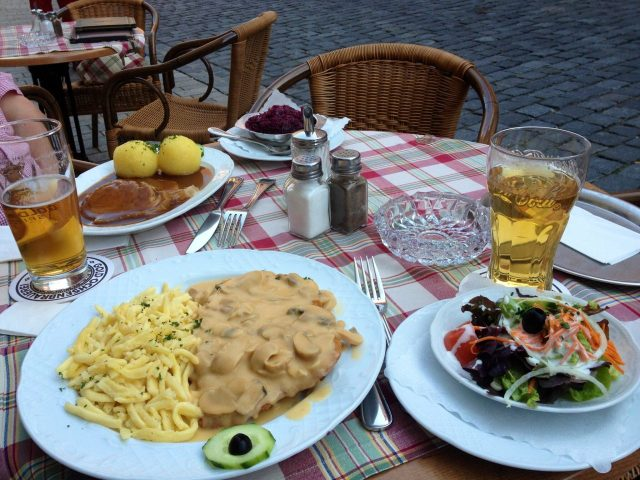 German supper at Rothenburg
