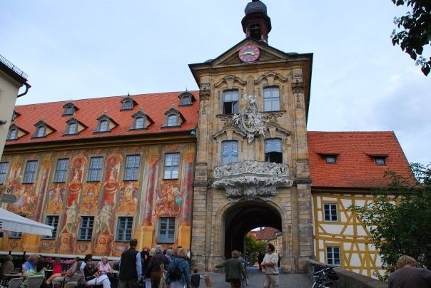 Old Townhall with Facade Paintings, Bamberg, Lower Franconia, Bavaria