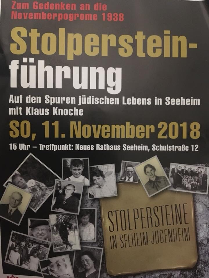Stolpersteine, Stepping stones, poster, a Jewish and Holocaust memorial