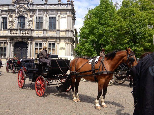 Horse carriages in Brugge, Belgium