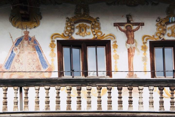 Bavarian, Austrian Facade painting, Lüftmalerei, Biblical representation