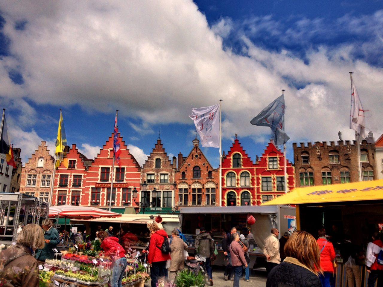 Brugge, Belgium, Market place