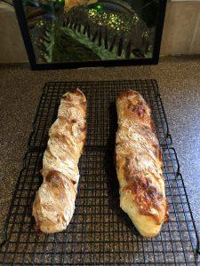 French Baguette no knead, Französisches Weissbrot