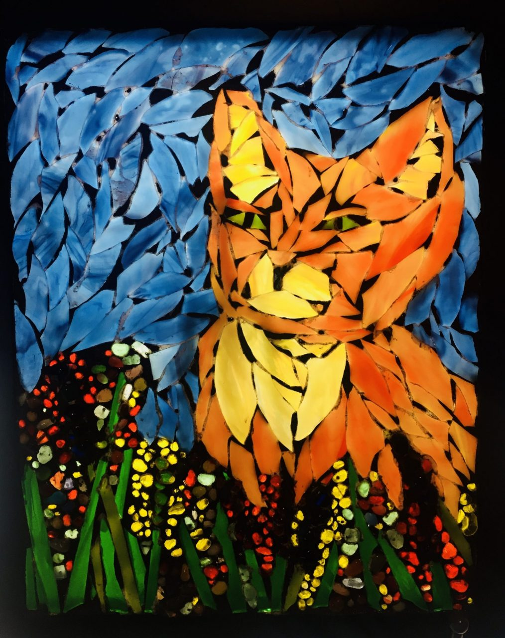 Mosaic cat-Glass Mosaic-GermaniaDesign.com