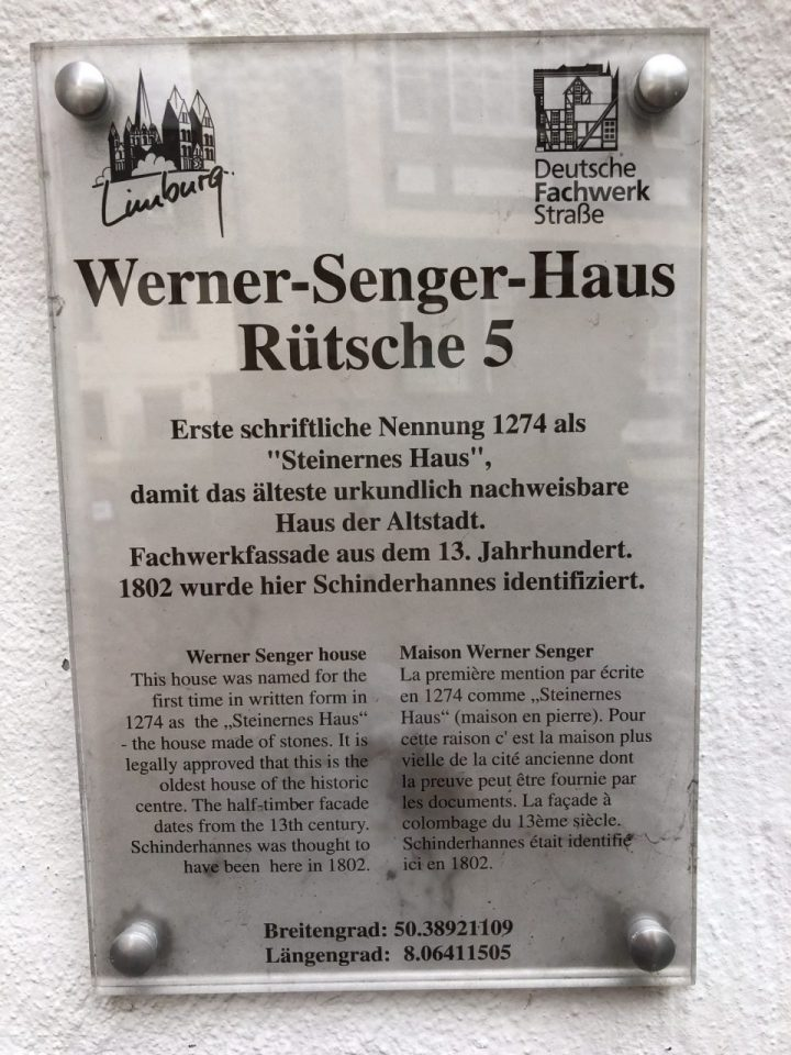Werner Senger Haus, Limburg