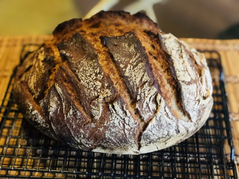 No-knead German crusty bread, Bauernbrot