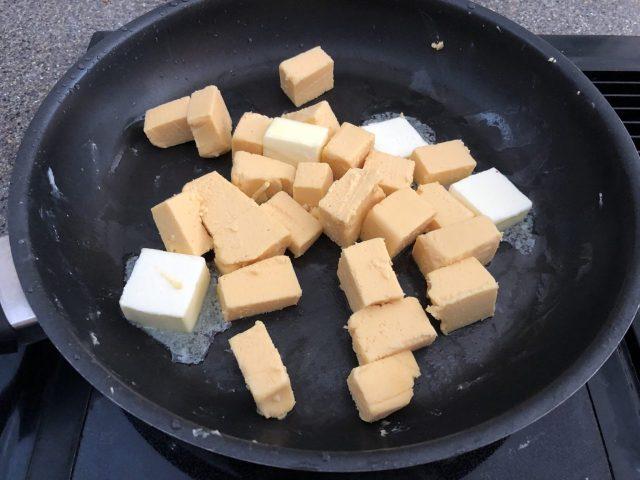 Making Kochkaese, melting cheese