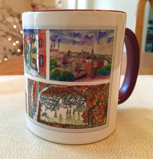 Franconia watercolor mug