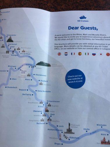 KD cruise brochure Koblenz to Ruedesheim