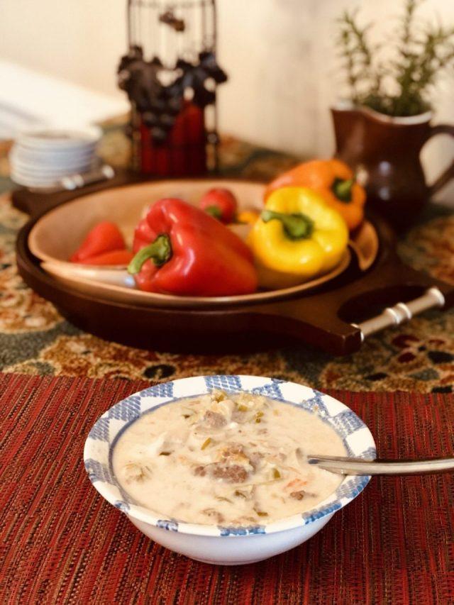 Austrian Creamy garlic leek soup