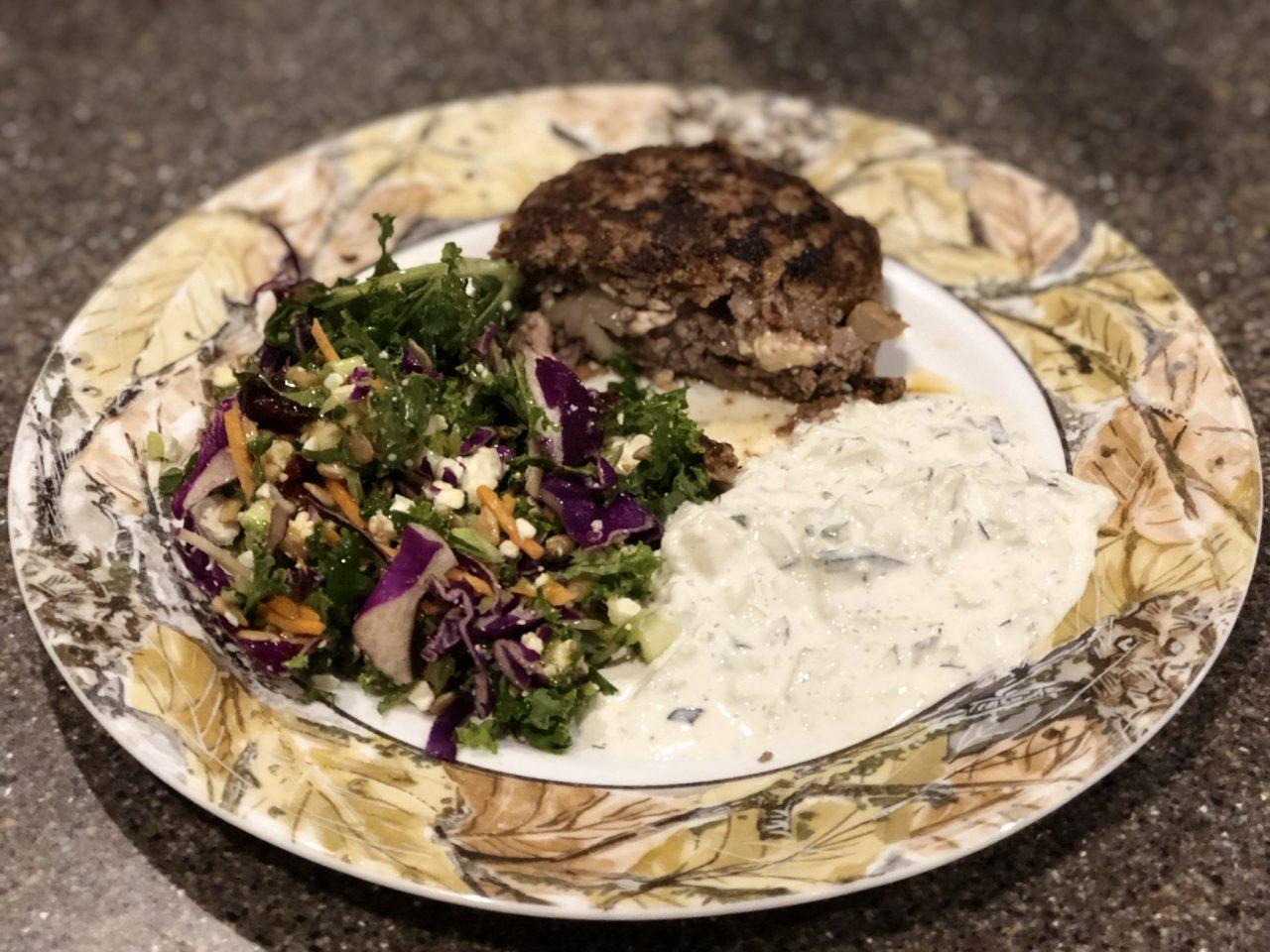 Greek Beefsteaks with Tzatziki sauce