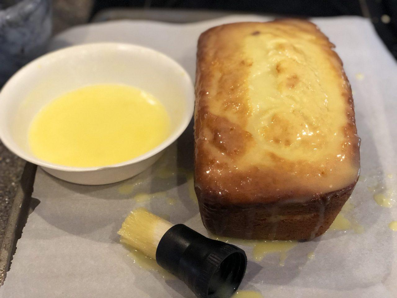 French Lemon cake, Cake au citron, soaking