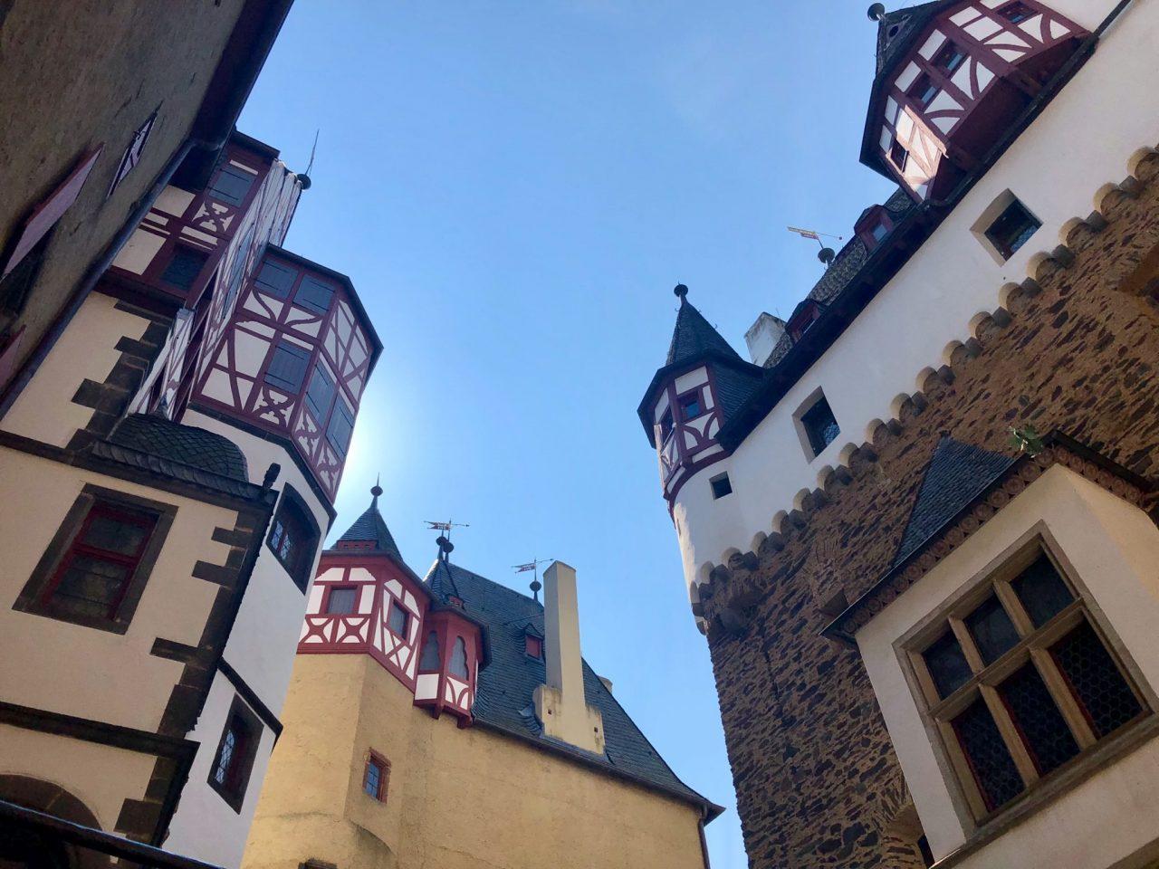 Burg Eltz castle courtyard