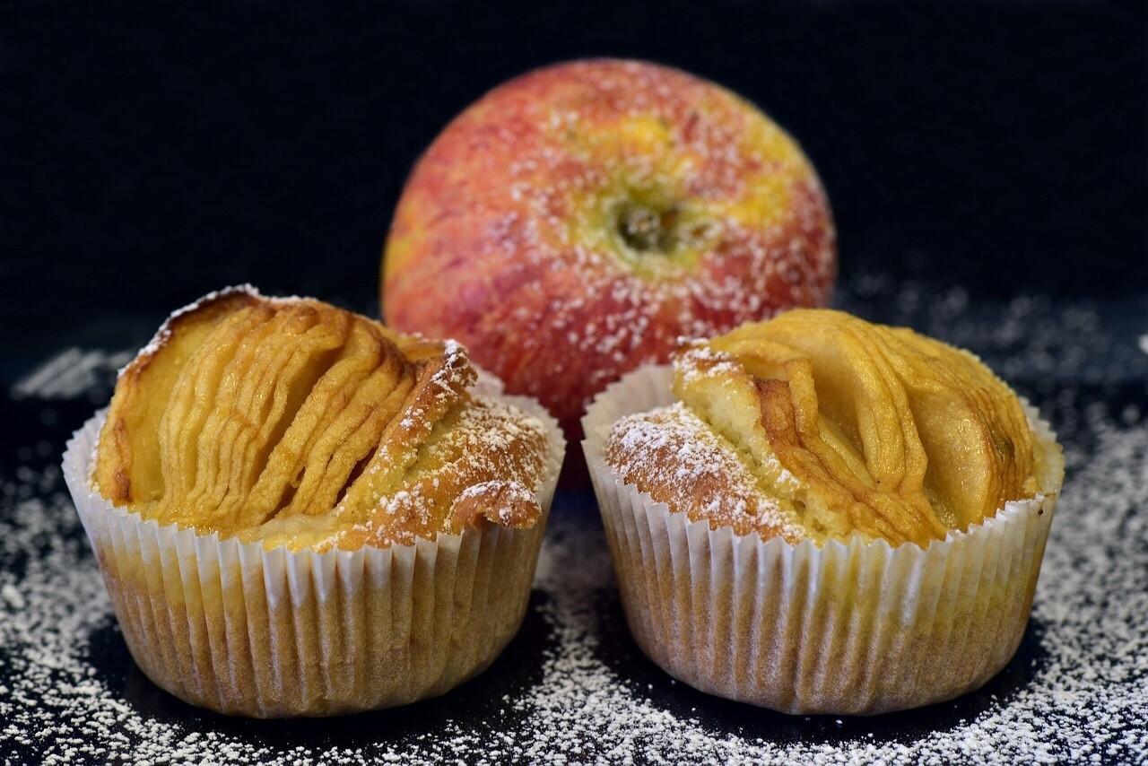 Apfelschlupfkuchen Muffins cups